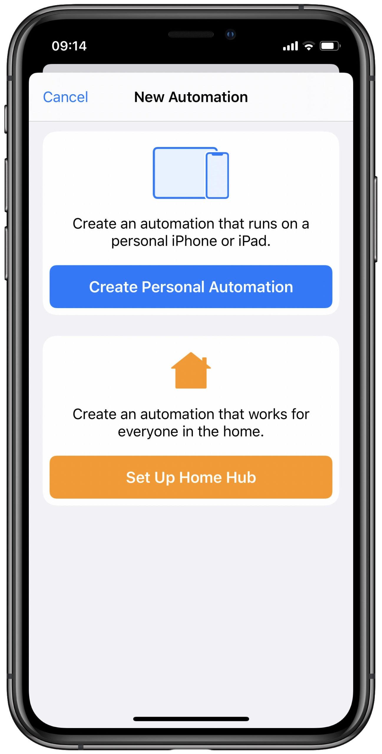Crea automatizaciones en tu iPhone.